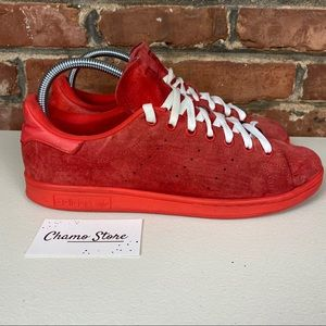 Adidas Stan Smith red suede men's Sz 10.5